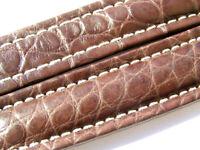 Breitling Band P601 18mm Croco braun brown marron Strap für Faltschliesse 009-18
