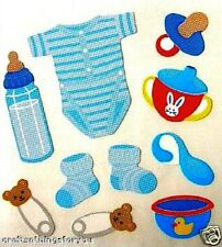 Sandylion CUTE BABY BOY Scrapbooking Stickers *FAST SHIP* G11 *3 Squares*