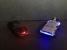 KITT Knight Rider Licht/Sound + DeLorean BTTF Zurück in die Zukunft Licht 1:43
