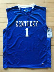 NEW Kentucky Wildcats Russell Athletics Blue #1 Devin Booker Jersey Mens Sz XL