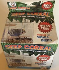 Seed Coral No Waste Mess Free Perfect for Small Bird Plastic Hanging Cage Feeder