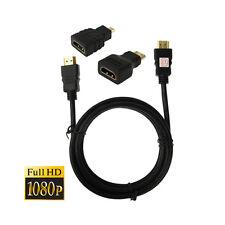 3in1 HDMI - Mini HDMI - Micro HDMI - Adapter + HDMI Kabel 1,5m HDMI 1.4 Full HD
