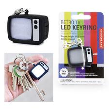 Kikkerland Retro TV Television LED Keyring Keychain Static Sound Flashing Gift