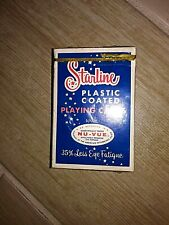 Vintage Starline Plastic Coated Playing Cards New in Sealed Box