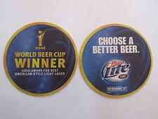 Beer Mat Coaster Miller Lite ~ World Cup Gold Winner 2006 ~ American Light Lager