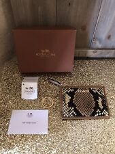 NWT Coach Snakeprint Mini Skinny Wallet~CLASSIC COLORS! TAN AND BLACK