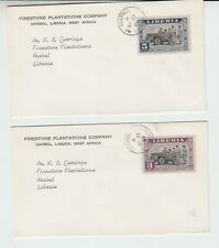 Liberia # 296-97 Covers GBARNGA to Harbel FDR