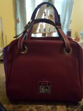 new dooney bourke handbags dark red grommet satchel soft leather purse women