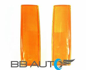 83-94 CHEVY S10 BLAZER GMC S15 JIMMY FRONT PARK SIGNAL MARKER LIGHT LENS SET NEW
