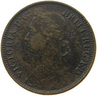 GREAT BRITAIN FARTHING 1881 H VICTORIA #s51 755