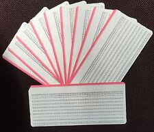 Vintage década de 1970 Rojo bordes sin usar computadora IBM-Tipo de entrada de tarjetas perforadas X 18, Raro