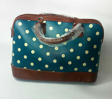 WOMENS BAG GREEN POLKADOT VINTAGE LEATHER UK FAST POSTAGE NEW  QUILTED