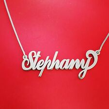 Sterling silver chain, name on necklace, neckless with name necklace custom made