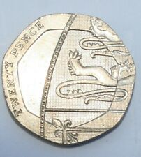 More details for 2008 20p shield coin mule royal mint error coin rare circulated condition