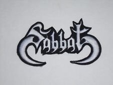 SABBAT BLACK/THRASH METAL IRON ON EMBROIDERED PATCH