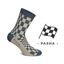 Heel Tread Pasha Navy/Tan Socks