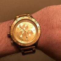 Nixon 42-20 Chronograph All Gold Wrist Watch