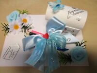 ღ Geldgeschenk zum Schulanfang, Einschulung Junge ღ Geschenkbox Stifte  Box