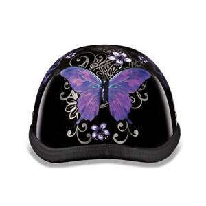 Eagle-w Butterfly Non-Dot Motorcycle Helmet Free Head Wrap And Cloth Draw String