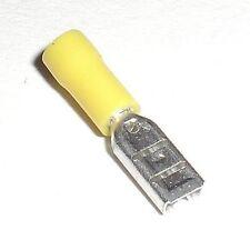 10 Mini Capocorda Piatto Giallo 2,8x0,8 MM 0,1 -0,5 ² Capicorda Guaina per Presa
