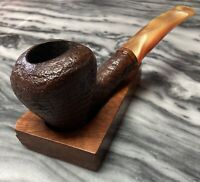Vintage Estate Wenhall Large Blasted Freehand Pipe-Beautiful Ring Grain!