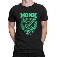 """GiX Gamer Herren T-Shirt """"Monk"""" S / M / L / XL / XXL Nerd MMO Classes WoW"""