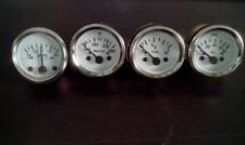 "2"" / 52mm Electrical Oil Pressure Temperature 30 Amps Fuel Gauge - White"