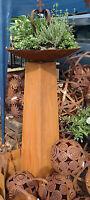 Metall Säule H.140 Rost Pflanzsäule Gartendeko Ständer Galeriesockel Edelrost