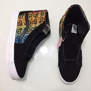 NEW Vans Sk8-Hi Dia de los Muertos Black Suede Mens Skate Shoes