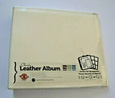 We R Memory Keepers 12x12 Vanilla Classic Leather Three-Ring Album with 10 PAGES
