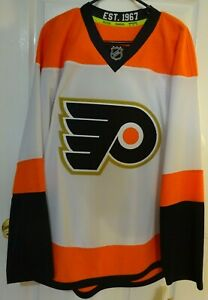 Authentic Philadelphia Flyers 50th Anniversary Reebok Jersey Size LARGE 50 - NWT