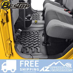 Bestop Rear Floor Liner - Black fits 2007-2018 Jeep Wrangler Unlimited JK 4 Door
