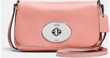 NWT Authentic Coach Pink Turnlock Crossbody Pouch Purse