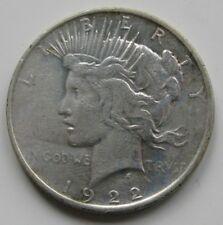 USA , 1 DOLLAR - DOLAR PEACE DE 1922. PLATA