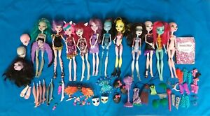 Huge Monster High CAM Create a Monster Dolls Bundle OOAK redress spares RARE