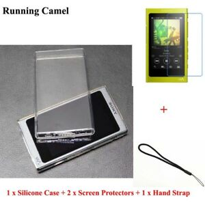 Soft TPU Case For Sony Walkman NW A45 A47 A35 A36 Screen Protector Strap