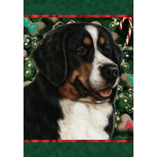 Bernese Mountain Dog Holiday Treats Flag