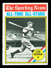1976 TOPPS OPC O PEE CHEE BASEBALL 341 LOU GEHRIG NM ALL TIME ALL STAR YANKEES