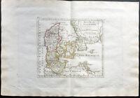 1807 - Landkarte Antik des Königreich Dänemark - Antik Map von Dänemark
