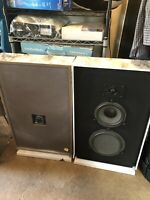 Realistic Optimus-27 speakers Cat.No.40-2033 Pair Decorative Marble Frame Tested