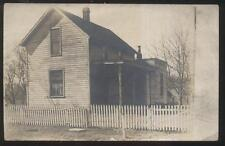 REAL PHOTO Postcard BUCYRUS Ohio/OH  Alfred & Emma Bock Family House/Home 1910