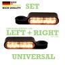 LED Blinker Softail getönt Lenkerarmaturen Blinkerhalter schwarz  E-gep. HD paar