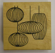 Rubber Stamp Retro Mod Lamps - wood mounted JK2679G