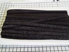 5 metres 12mm black hooped edge elastic lingerie underwear Free UK P/&P