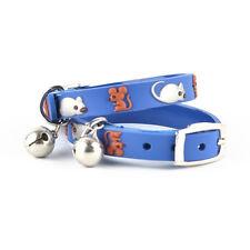 Blue Mouse Cat Kitten Waterproof Safety Collars - 22cm