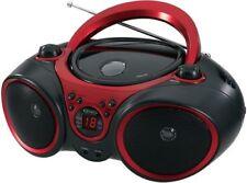 Jensen Cd Portable Stereo Cd Player Pro Amfm Radio Aux LineIn Red Design Black