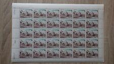 FEUILLE SHEET TIMBRES MONACO MNH**  Yvert T 58  coin daté 07-10-1960 TAXE