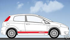 Fiat Punto Abarth stripes stickers decals