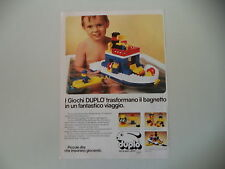 advertising Pubblicità 1984 LEGO DUPLO