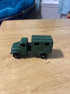 Vintage Matchbox No 68 Austin MK 2 Radio Truck Military  Green Lesney